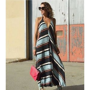 ZARA STRIPED MAXI DRESS